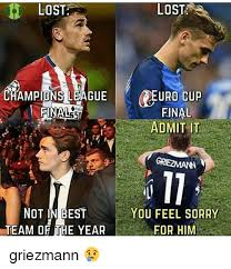 Chions League Meme - lost chions league not in best team of the year lost sr euro cup