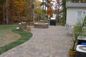 Paver Patios With Fire Pit by Charlotte Waxhaw Weddington Custom Outdoor Living Areas And