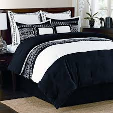 Tommy Bahama Comforter Set King Bedroom Contemporary Brown Bed With Dark Blue And White King