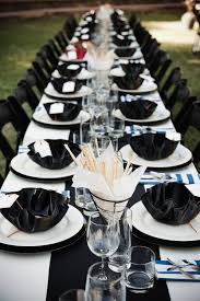black and white table settings picture of elegant black and white wedding table settings