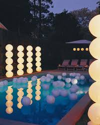 Light Up Topiary Balls - outdoor lighting ideas martha stewart