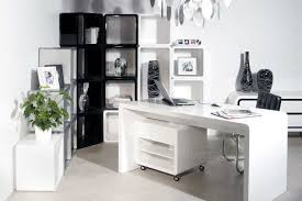 Contemporary Office Desk Furniture Interior White Beautiful Modern Storage Office Desk Along With