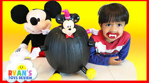 disney mickey mouse and minnie mouse halloween pumpkin surprise