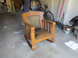 Old Rocking Chair Restain And Upholster An Old Rocking Chair Rixen It Up