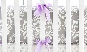 Lilac Damask Crib Bedding Lavender Crib Bedding Baby Bedding Damask Crib Bedding