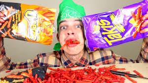 Challenge Lil Moco Cheetos Takis Fuego Challenge