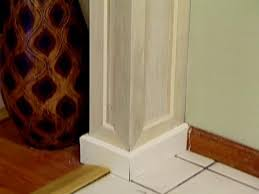 How To Lay Laminate Flooring In A Doorway Creating Wood Columns In A Doorway Hgtv