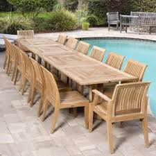 large outdoor dining table 11pc to 15pc large outdoor dining table and chairs westminster