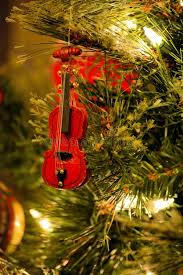 tree ornament violin fiddle stock image image