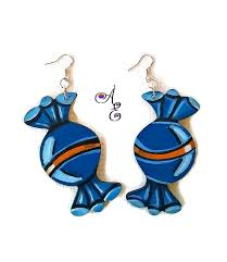 food earrings blue bubblegum earrings candy earrings candy jewelry