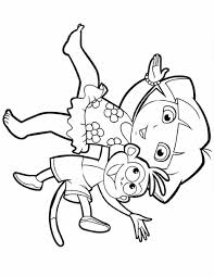 dora boots coloring pages how to draw dora the explorer step by