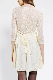 urban outfitters pins and needles longsleeve lace babydoll dress