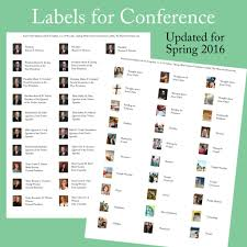 2016 spring general conference printables the mormon home