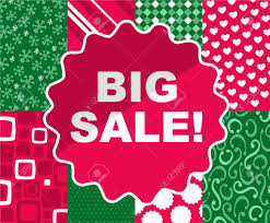 christmas clearance big sale christmas clearance retail deal time vector illustration