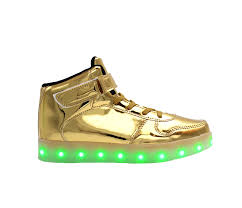 light up shoes gold high top galaxy led shoes high top light up sneakers for men and women gold