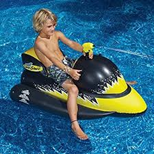amazon pool floats amazon com laser shark wet ski squirter pool float toy garden
