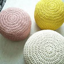 shop knitted pouf on wanelo