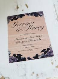 wooden invitations sail and swan