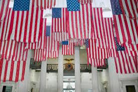 Vanderbilt Flag Nyc U0027s Federal Hall Exhibition Displays 50 Us Flags In A Powerful