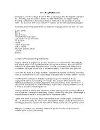 cover letter opening statements statement for human resources