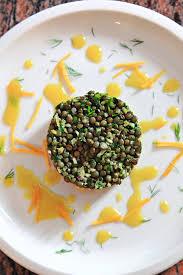 cuisiner les lentilles vertes tartare de saumon aux lentilles vertes du puy régal