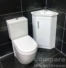 Cloakroom Basins With Pedestal Corner Vanity Unit Home Furniture U0026 Diy Ebay