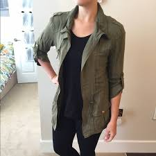 apt 9 clothing 60 apt 9 jackets blazers apt 9 army green zippered