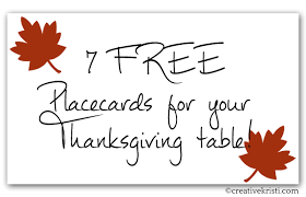 7 free printable placecards for thanksgiving table holidays
