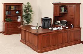 U Shaped Reception Desk Buckingham U Shaped Desk With Optional Hutch Top From Dutchcrafters