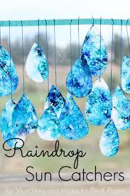 raindrop suncatchers weather crafts suncatchers and weather