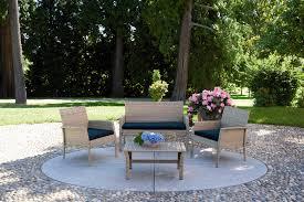 divano giardino salotto struttura in alluminio e intreccio in rattan sintetico