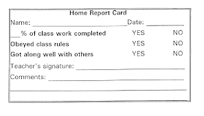 home report card