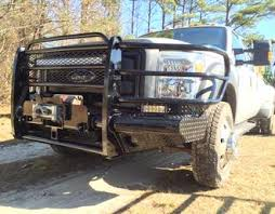 ford truck bumper peacemaker bumpers heavy duty ranch winch mount bumpers