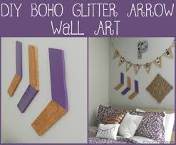Make Purple Paint Diy Boho Glitter Arrow Wall Art A Little Craft In Your Day