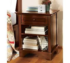 traditional brown stained wooden single drawer nighstand and