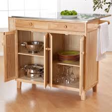 kitchen island cart with stainless steel top wood light grey lasalle door stainless steel top kitchen