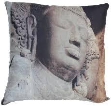 wholesale 18 x 18 inch buddha head cushion cover faux silk throw