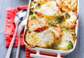 cuisiner le brocolis frais gratin de pommes de terre et brocoli au chorizo recette interfel