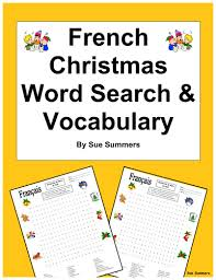 french christmas word search worksheet and vocabulary by