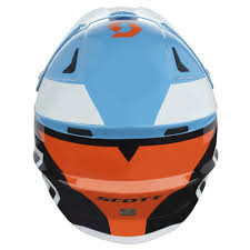 orange motocross helmet motocross helmet scott 350 pro race blue orange insportline