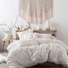 Joss And Main Bedding Brand New Linen House Sanura White Duvet Doona Quilt Cover Set