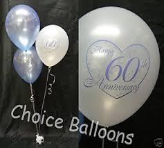 60th anniversary decorations diamond 60th wedding anniversary balloons 5 decorations 60