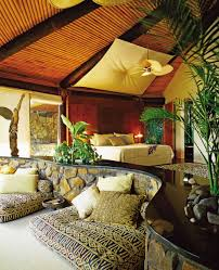 Tiki Home Decor Exotic Bedroom