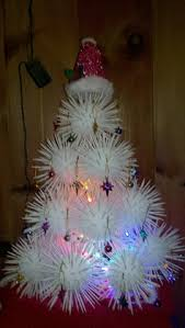 community tree out of styrofoam balls and toothpicks