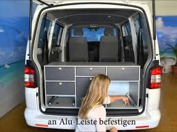 volkswagen caravelle trunk vanessa küche vw t5 transporter caravelle youtube