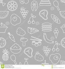 thin line icons seamless pattern stock vector image 69782544