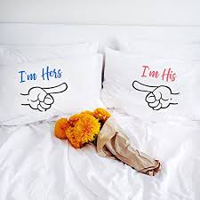 wedding gift hers uk i m hers i m his personalized gift pillowcases wedding gift