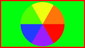 White Blue Orange Flag The Colour Wheel Blue Red Yellow Green Purple And Orange