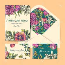 Wedding Invitation Card Free Wedding Invitation Card Suite With Daisy Flower Templates Royalty