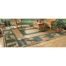 Outdoor Cing Rug Outdoor Reversible Patio Rv Mat 9ft X 18ft Wilderness Model
